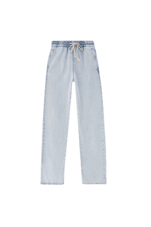 Wide-leg jeans with a stretch waistband - pull&bear