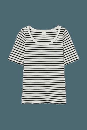 Ribbed T-shirt - White