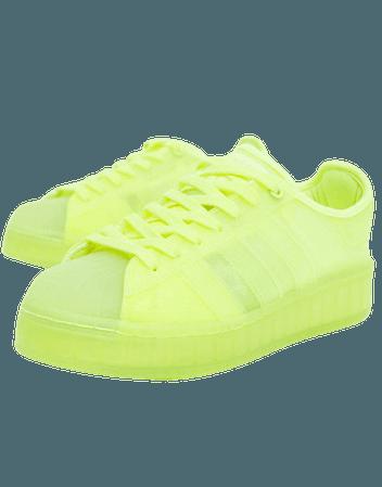 adidas Originals Superstar Jelly sneakers in solar yellow | ASOS