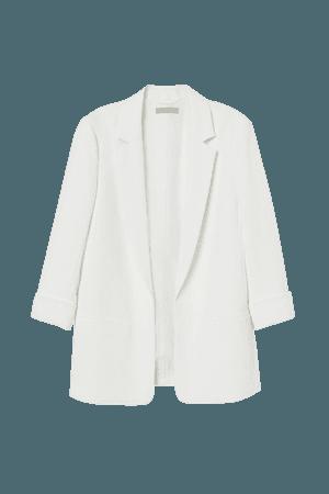 Creped Jacket - White