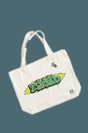Lucid FC X Tofu Boyo Caterpillar Tote Bag   Urban Outfitters