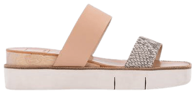 PARNI SANDALS IN STONE EMBOSSED LEATHER – Dolce Vita