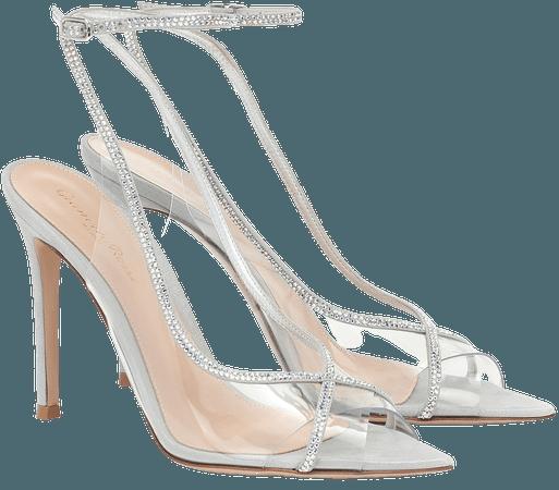 Gianvito Rossi - Crystelle embellished PVC sandals | Mytheresa