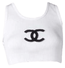 Chanel White Crop Top