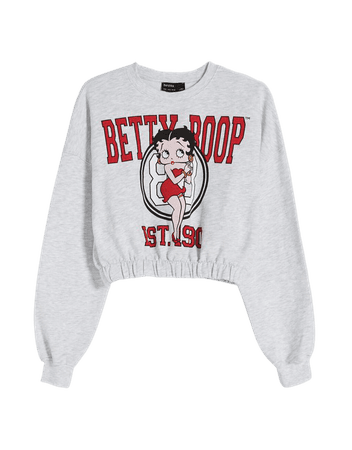 Betty Boop sweatshirt - Sweatshirts and hoodies - Woman | Bershka