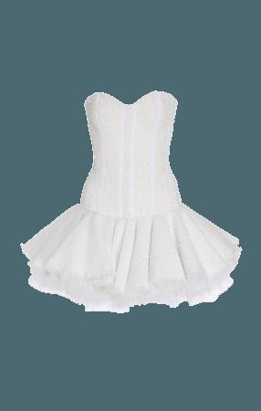 Tweed Bustier Dress by Balmain | Moda Operandi
