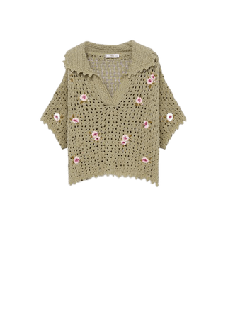 Floral crochet polo - Women | Mango USA