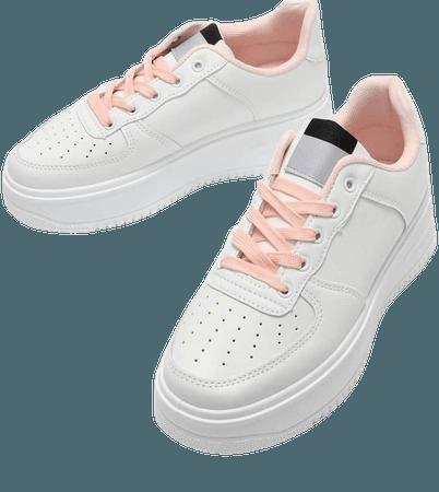 Otzi Pink Chunky Platform Trainers | Koi