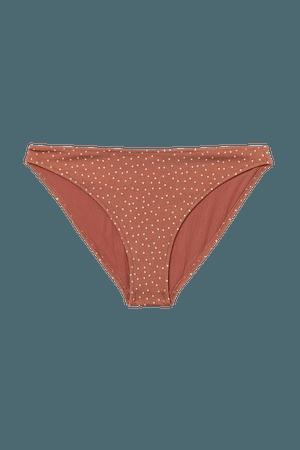 Bikini Bottoms - Rust brown/dotted - Ladies | H&M US