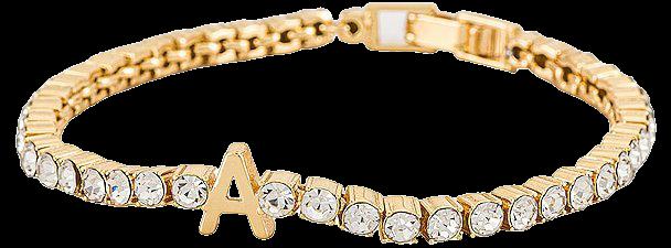 BaubleBar Gemstone Initial Bracelet in Gold   REVOLVE