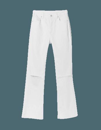 Ripped flared jeans - Pants - Woman | Bershka