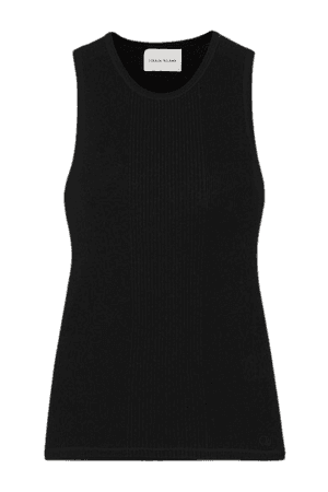 Fatu Ribbed Cotton Tank - Black