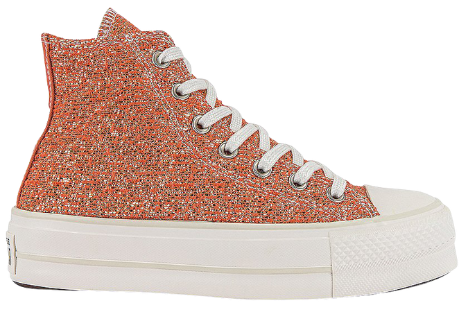 Converse Chuck Taylor All Star Lift Hi Sneaker in Healing Clay, Light Gold, & Vintage White | REVOLVE