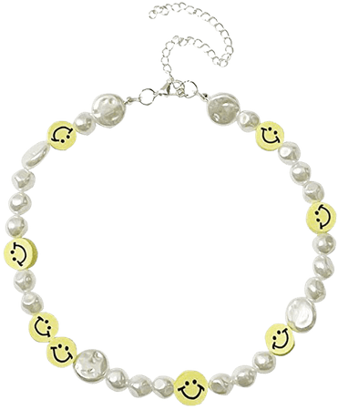 smile beaded necklace