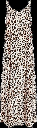 Leopard Print V-neck Maxi Dress   Express