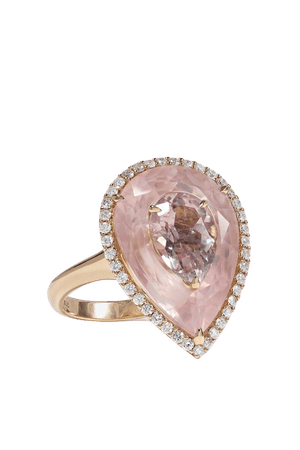 Rose gold 18-karat rose gold, morganite and diamond ring | Boghossian | NET-A-PORTER
