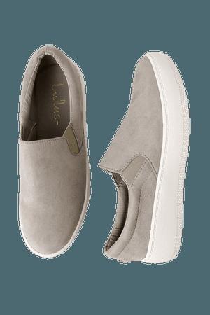 Cute Grey Sneakers - Slip-On Sneakers - Flatform Sneakers - Lulus