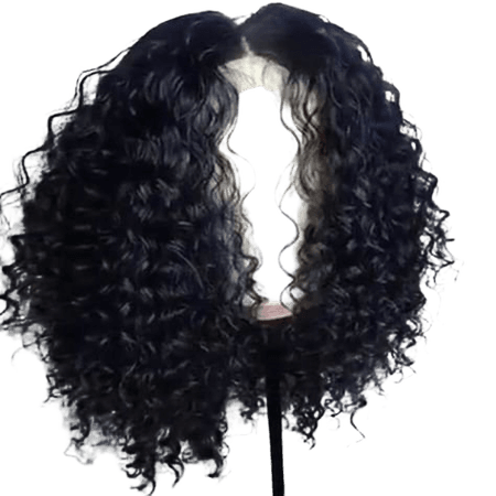 Short Curly Full 150% Density 13X6 Lace Front Wigs Full Lace Human Hair Wigs for Black Women Glueless Bob Brazilian Hair Wigs with Baby Hair Side Part