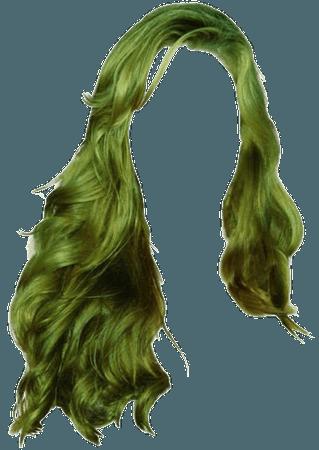 green doll hair png
