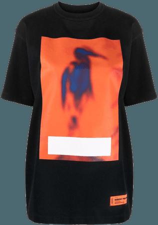 Shop Heron Preston heron-print T-shirt with Express Delivery - FARFETCH