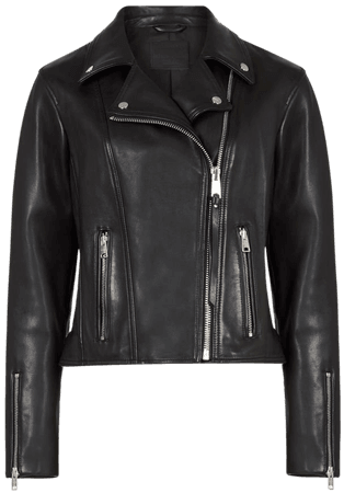 ALLSAINTS US: Womens Neve Leather Biker Jacket (black)