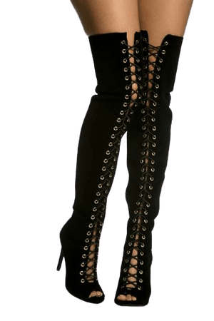 Black Faux Suede Lace Up Thigh High Boots @ Cicihot Boots Catalog:women's winter boots,leather thigh high boots,black platform knee high boots,over the knee boots,Go Go boots,cowgirl boots,gladiator boots,womens dress boots,skirt boots.