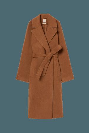 Wool-blend Coat - Brown - Ladies   H&M US