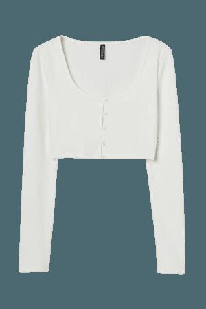 Crop Top - White - Ladies | H&M US