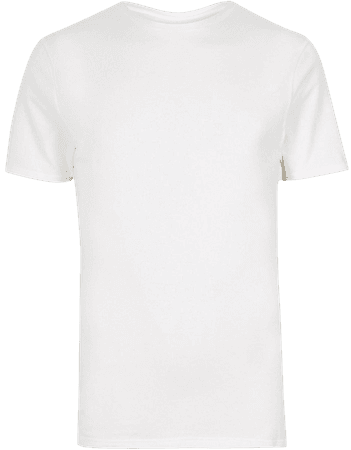 White muscle fit crew neck T-shirt | River Island