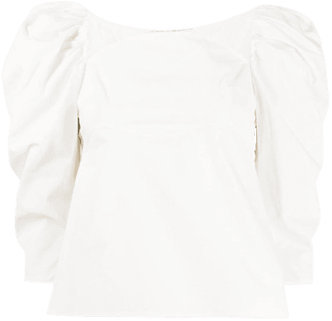 Shop white Rejina Pyo Anita puff-sleeve blouse with Express Delivery - Farfetch