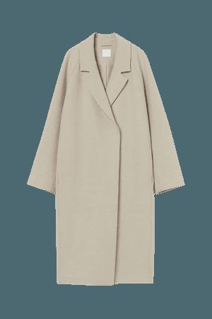 Calf-length Coat - Light beige - Ladies | H&M US