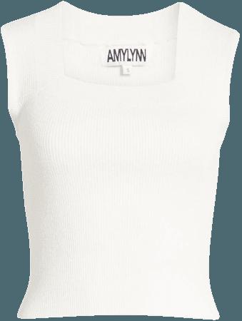 Amy Lynn Sleeveless Rib Knit Top | Nordstrom
