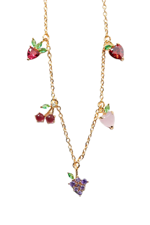 Girls Crew Fruit Basic Charm Choker Necklace | Urban Outfitters