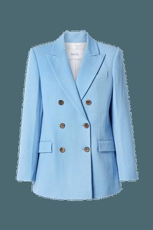 Cambridge Double-breasted Drill Blazer - Sky blue