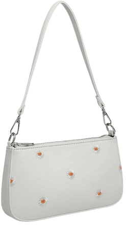 Daisy Embroidery Baguette Bag | SHEIN USA