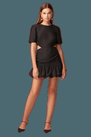 CRANES MINI DRESS Black
