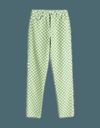 Printed straight-fit twill pants - Pants - Woman | Bershka
