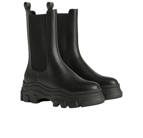 Stretch platform ankle boots with track soles - New - Bershka United States