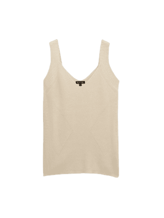 Decrease stitch V-neck top - Women - Massimo Dutti