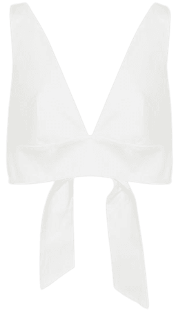 Tammi White Crop Top With Bow Detail – REISS
