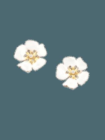 1pair Rhinestone Decor Flower Shaped Stud Earrings | SHEIN USA