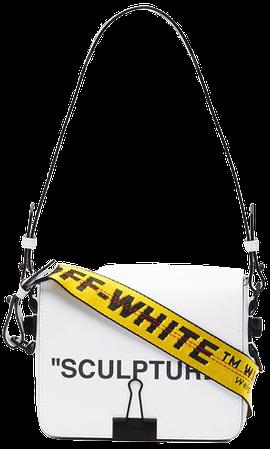 Off White Bulldog Clip Leather Shoulder Bag