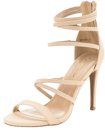 Amazon.com | DREAM PAIRS Women's Show High Heel Dress Pump Sandals | Heeled Sandals