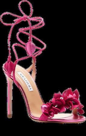 Bougainvillea Floral Ankle Tie Sandal
