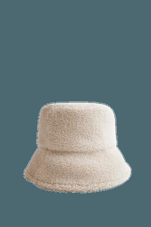 FAUX SHEARLING BUCKET HAT | ZARA United States