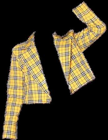 Yellow Plaid Blazer