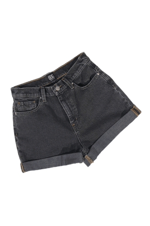 BDG High-Waisted Mom Short – Washed Black Denim | Urban Outfitters