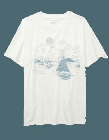 AE Oversized Sailboat Graphic T-Shirt