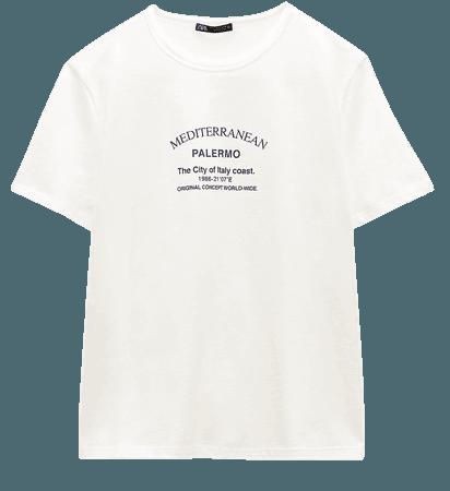 TEXT T-SHIRT | ZARA United States