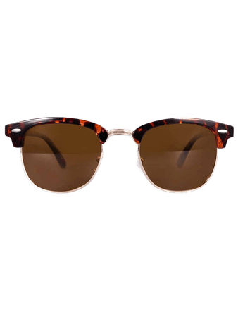 Tinted Lens Browline Sunglasses | SHEIN USA